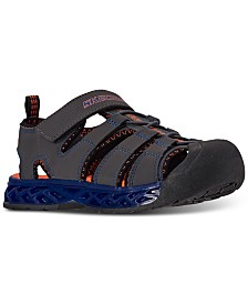 Skechers Little Boys S Lights Flex-Flow Stay-Put Closure Sport Sandal from Finish Line