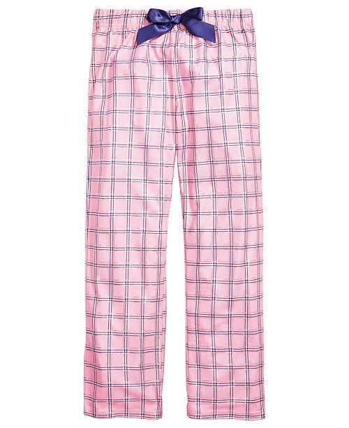 Max & Olivia Little & Big Girls Plaid Pajama Pants