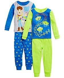 Toddler Boys 4-Pc. Cotton Toy Story Pajamas Set