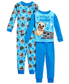 AME Toddler Boys 4-Pc. Cotton Puppy Dog Pals Pajamas Set