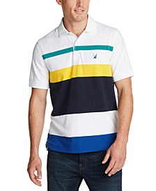 Men's Blue Sail Interlock Striped Polo Shirt, Created for Macy's