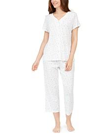 Women's Cotton Printed Pajama Set, Created For Macy's