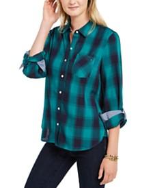 Tommy Hilfiger Cotton Plaid Utility Shirt