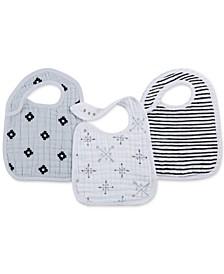 Baby Girls 3-Pk. Lovestruck Cotton Snap Bibs