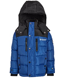 Toddler Boys Faux-Fur-Trim Puffer Jacket