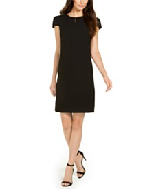 Anne Klein Keyhole Cap-Sleeve Sheath Dress