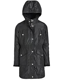 Big Girls Anorak with Logo Trim