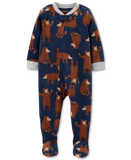 Carter's Baby Boys 1-Pc. Footed Fleece Bear Pajama