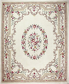 CLOSEOUT!  KM Home Palace Garden Aubusson Cream 8' x 10' Area Rug