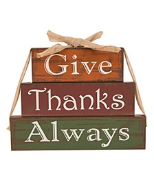 Wooden - Give Thanks Block Set