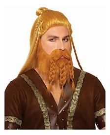 BuySeasons Men's Deluxe Viking Wig with Beard