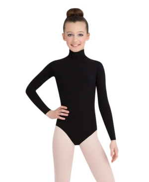 Capezio Big Girls Long Sleeve Turtleneck Leotard with Snaps
