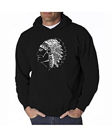 Men's Word Art Hooded Sweatshirt