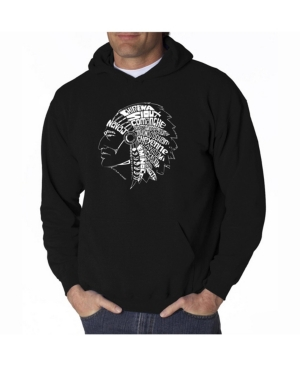 La Pop Art Men's Word Art Hooded Sweatshirt
