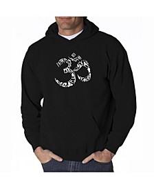 Men's Word Art Hooded Sweatshirt - Om Symbol