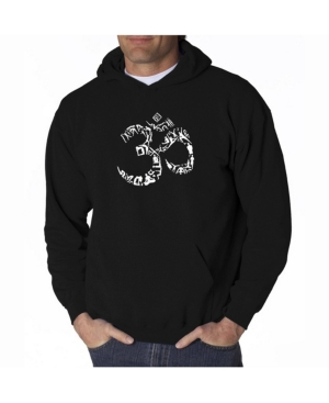 La Pop Art Men's Word Art Hooded Sweatshirt - Om Symbol