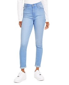 Celebrity Pink Juniors' Cuffed High-Rise Skinny Jeans
