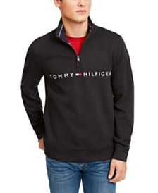 Tommy Hilfiger Men's Logo Quarter-Zip Sweater
