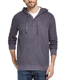 Weatherproof Vintage Men's Waffle Knit Thermal Hoodie