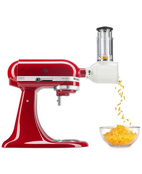 KitchenAid Value Bundle Artisan Series 5-Qt. Tilt-Head Stand Mixer & Fresh Prep Slicer/Shredder Attachment KSM150FB, Created for Macys