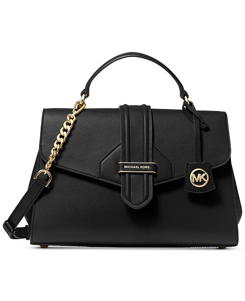 Michael Kors Bleecker Leather Top-Handle Satchel