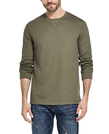 Men's Waffle Knit Long-Sleeve T-Shirt