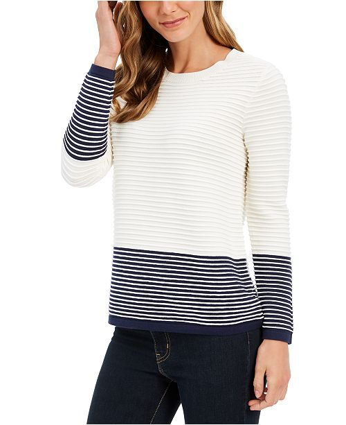 Charter Club Petite Ribbed Sweater, Created for Macy's