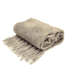 Chenille Fringe Sofa Throw