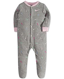 Baby Girls Swooshfetti Footed Coveralls