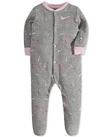 Nike Baby Girls Swooshfetti Footed Coveralls