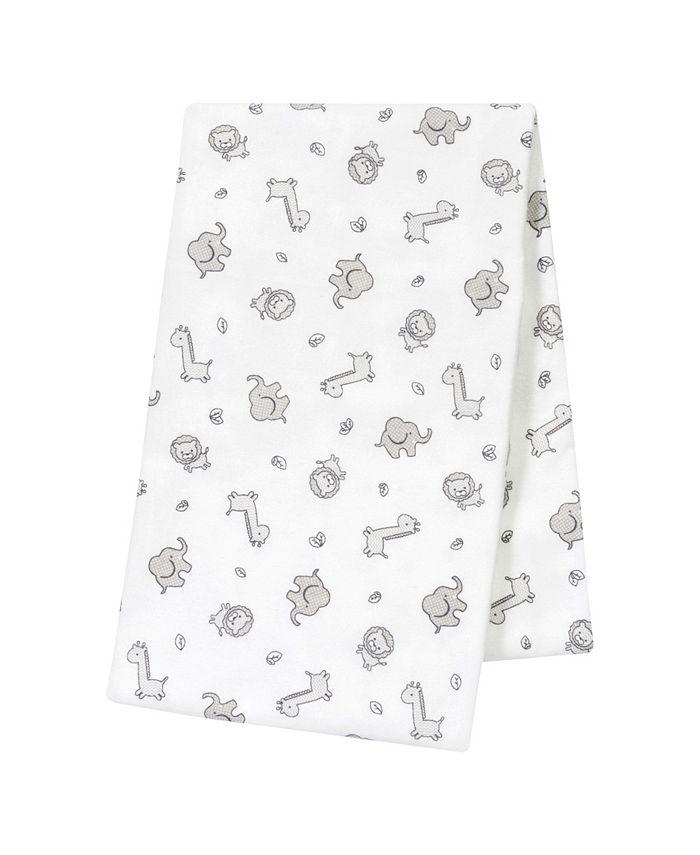 Trend Lab - Safari Chevron Jumbo Deluxe Flannel Swaddle Blanket