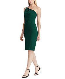 Lauren Ralph Lauren One-Shoulder Cocktail Dress, Created For Macy's
