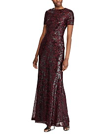 Lauren Ralph Lauren Sequined Evening Gown
