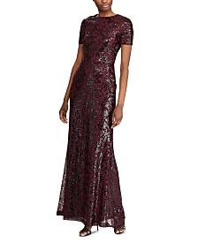 Lauren Ralph Lauren Sequined Evening Gown