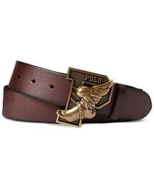 Men's Winged Leather Belt