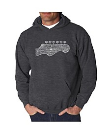 Men's Word Art Hooded Sweatshirt - Guitar Head