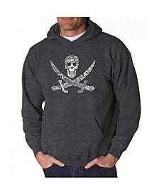 Men's Word Art Hoodie - Pirate