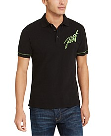 Men's Logo Graphic Pique Polo Shirt