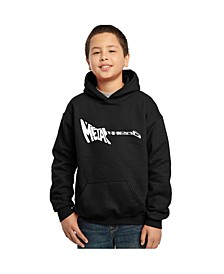 Boy's Word Art Hoodies - Heavy Metal