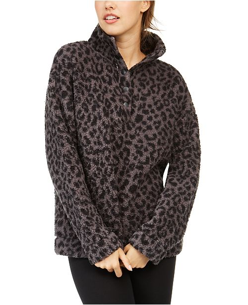 Jenni Faux Sherpa Cozy Pullover, Created for Macy's