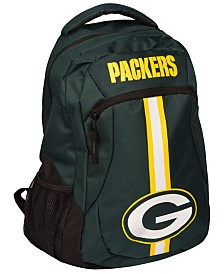 Forever Collectibles Green Bay Packers Action Backpack