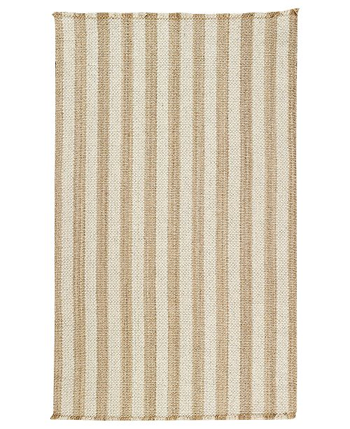 Capel Area Rug, Hampton Flatweave 0404-760 Shingle Stripe 2' x 3'