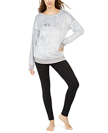 Faux Fur Tunic & Leggings Pajama Set, Created for Macy's