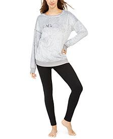 Jenni Faux Fur Tunic & Leggings Pajama Set, Created for Macy's