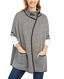 Bird's Eye Riding Cape With Welt Pockets