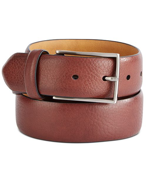 Tasso Elba Men's Textured Belt, Created For Macy's