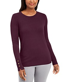 Petite Crewneck Sweater, Created for Macy's