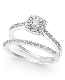 Diamond Halo Bridal Set (1/2 ct. t.w.) in 14k White Gold