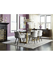 Hotel Collection Derwick Dining Furniture, 7-Pc. Set (Table & 6 Side Chairs), Created for Macy's