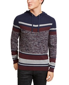 I.N.C. Men's Striped Hooded Sweater, Created For Macy's
